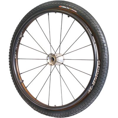 "PACKAGE DEAL - 25"" Spinergy Wheels with Tires and Hand Rims"
