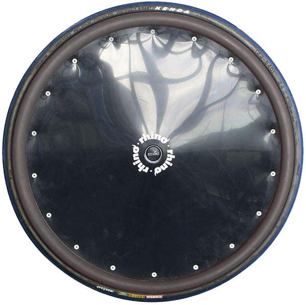 Black Poly Spoke Guard with Black Rubber Hand Rims (Sports)