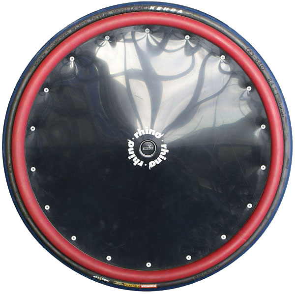 Black Poly Spoke Guard with Red Rubber Hand Rims (Sports)